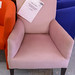 Ornate pink mix fabric fireside chair