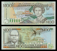 (XCD7b) 1994 Eastern Caribbean States: Anguilla, Eastern Caribbean Central Bank, One Hundred Dollars (A/R)..