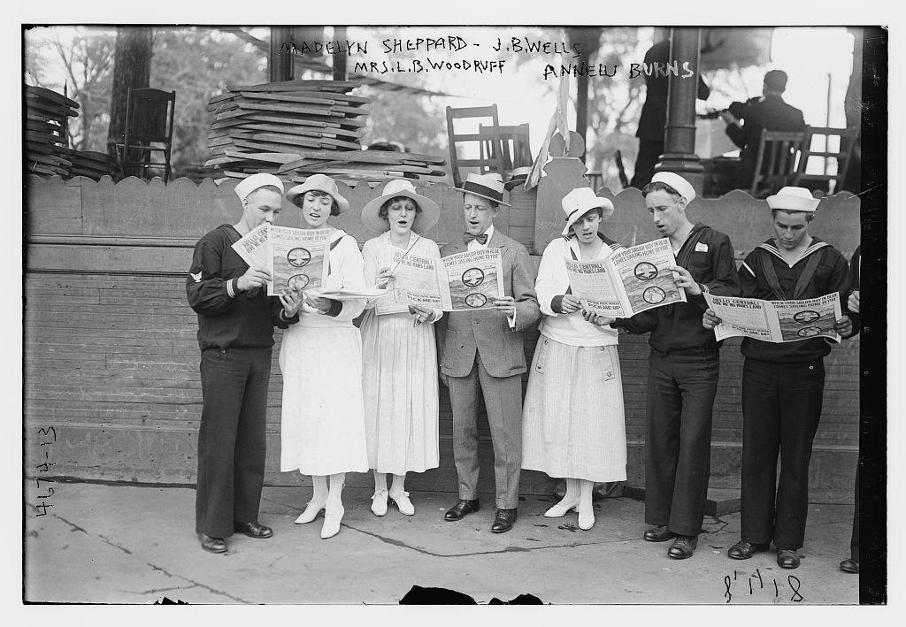Madelyn Sheppard, J.B. Wells, Mrs. L.B. Woodruff, Annelu Burns (LOC)