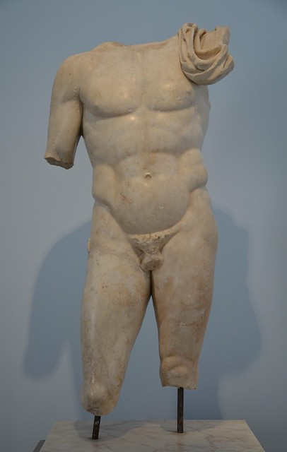 Nude hero, probably Achilles, from the Hadrianic Baths, 2nd century AD, Aphrodisias Museum