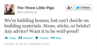 Three Little Pigs Tweet