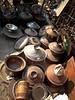 Vintage copper pots