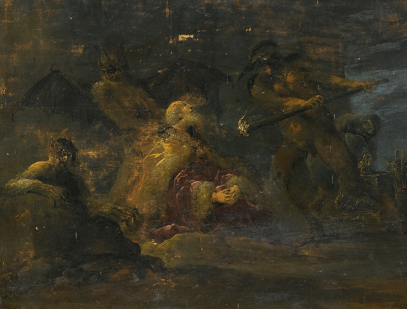 Leonaert Bramer - Dives, tormented by demons in hell, 16th century (detail 2)