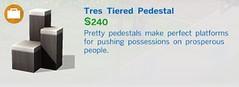 Tres Tiered Pedestal