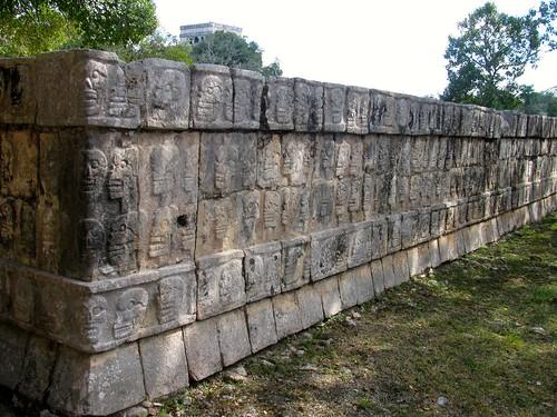 Tzompantli o Altar de Cráneos, Chichén Itzá