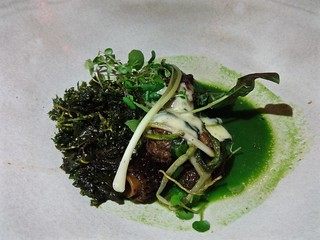 roasted morels and smoked hollandaise at The Progress in San Francisco