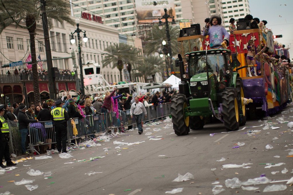 Neutral ground during Mardi Gras