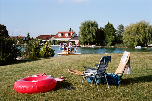 Lake and recreation area. Haschendorf, Austria. 2016.