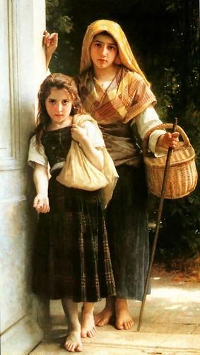 William Bouguereau - Little Beggars _1890_