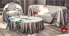 Trompe Loeil - Draped Living Room for FaMESHed October