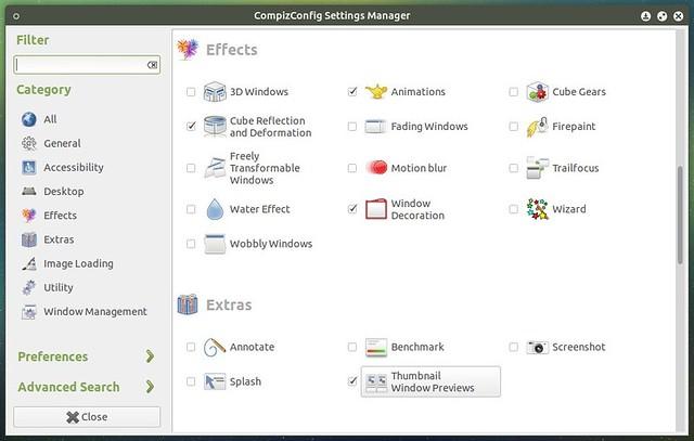 Compiz в Ubuntu Mate 15.04