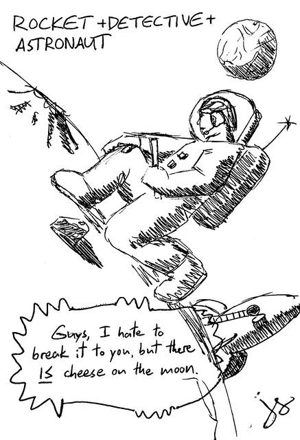 Rocket + Detective + Astronaut