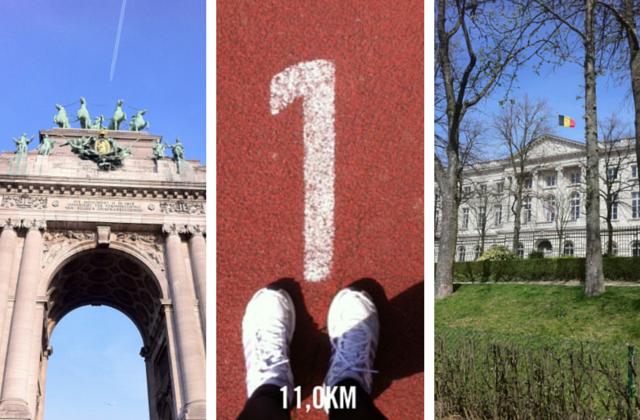 Running in the Cinquantenaire Park