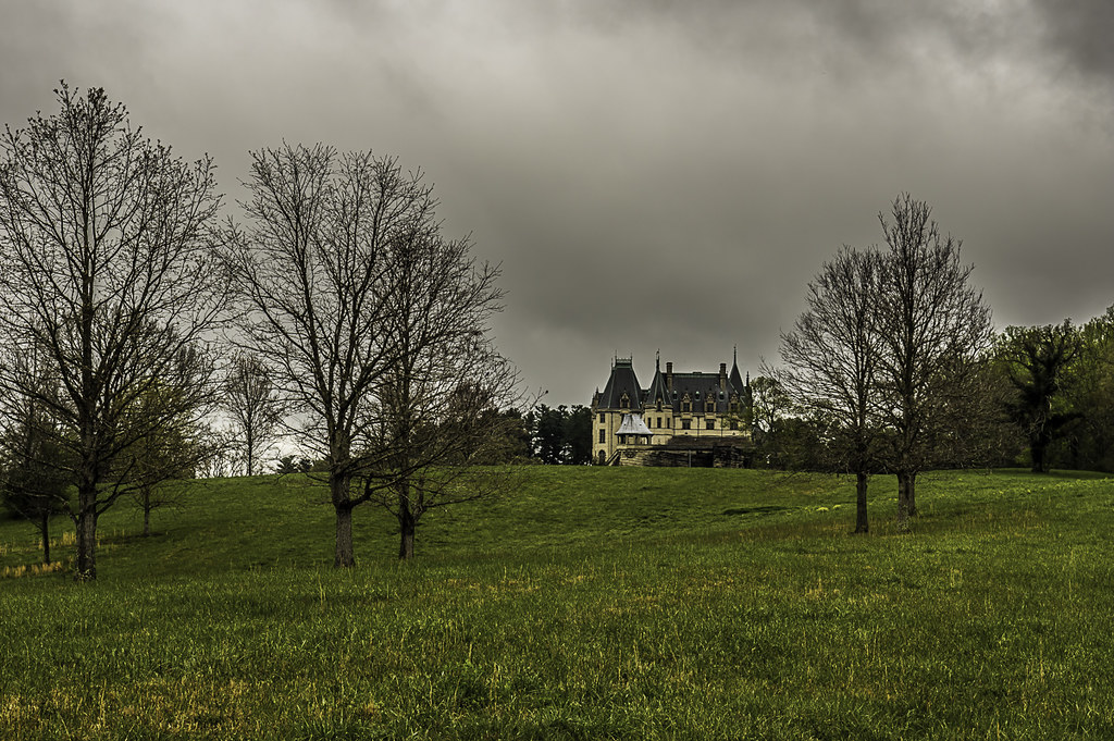 Biltmore house from the hills to the south.