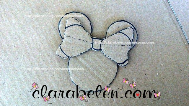 Cómo dibujar el lazo de Minnie Mouse