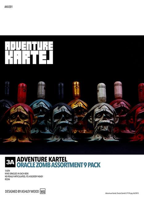 threeA Adventure Kartel 系列【僵屍頭】ORACLES 1/6 比例 九顆頭同捆包