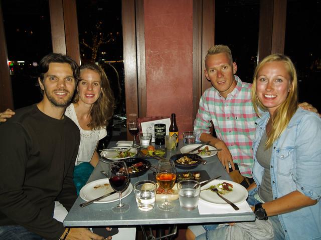 Middag med Alex og Melissa