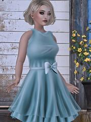child(0.0), bridal clothing(0.0), gown(0.0), sleeve(0.0), wedding dress(0.0), bridesmaid(0.0), prom(0.0), bridal party dress(1.0), textile(1.0), clothing(1.0), aqua(1.0), cocktail dress(1.0), woman(1.0), female(1.0), person(1.0), dress(1.0),
