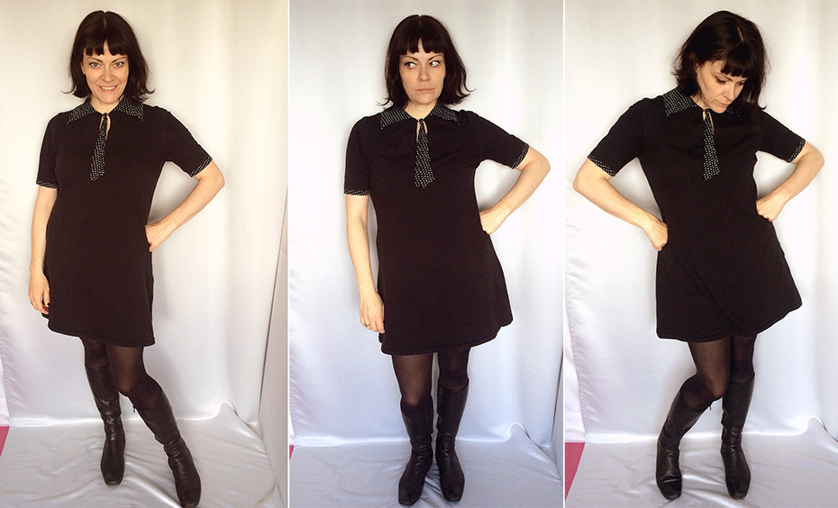 Leichtes Jersey Kleid | Schwatz Katz