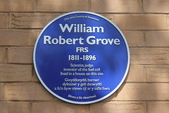 Photo of William Robert Grove blue plaque