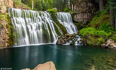 McCloud Middle Falls near Mount Shasta, California