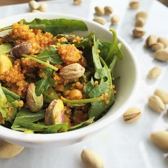 juice-infused quinoa salad with pistachios and fre…