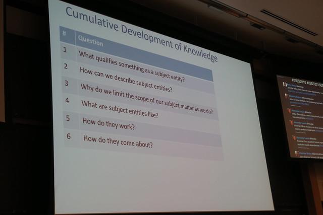 David Rousseau, Cumulative Development Of Knowledge