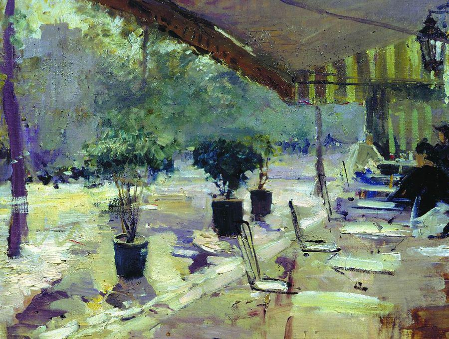 Parisian Cafe by Constantin Alexeevich Korovin