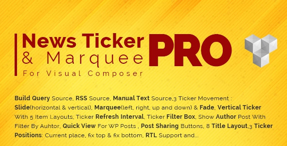 Pro News Ticker & Marquee for Visual Composer v1.1