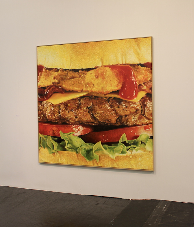 MIke Bouchet at booth Catherine Bastide, Brussels