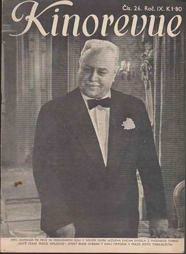 Časopis Kinorevue 1942-43 č. 26, Emil Jannings