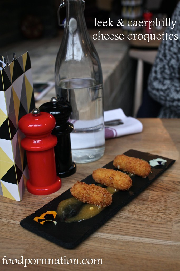 Leek & Caerphilly cheese croquettes - Forge & Co, Shoreditch - London Food Blog