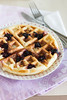 Blackberry  Cottage Cheese Waffles
