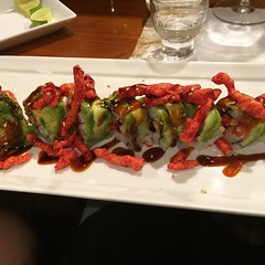 The flaming Cheetos 420 roll at #Kanpai