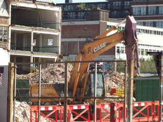 Harrison Drape building redevelopment - Cheapside, Digbeth - excavator - R Case | by ell brown