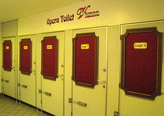 """Opera Toilet Vienna""--Public toilets in the U-Bahn (subway) station at the Vienna State Opera"