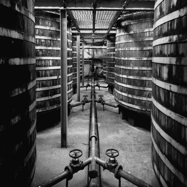 Port Ellen Distillery, Islay, Scotland in 1980. Closed in 1983.