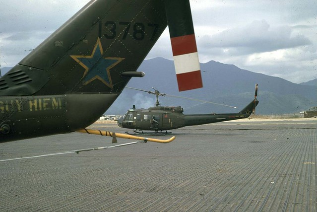NHA TRANG 1967 - 48th Assault Helicopter Co. Blue Stars - Photo by Phillip M. Kemp