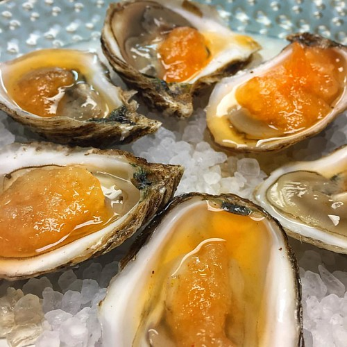 Happy oyster day! In honor of this day we are running Beau Soleil oysters on the half shell with orange-sriracha granite #nationaloysterday #beausoleiloysters #oysters #georgiaseagrill #instafood #instayum