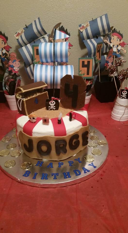 Pirate Birthday Cake by Jennifer Elaine Nieto Gomez