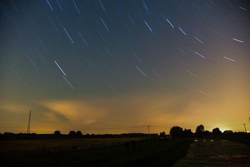 longexposure night clouds stars startrails