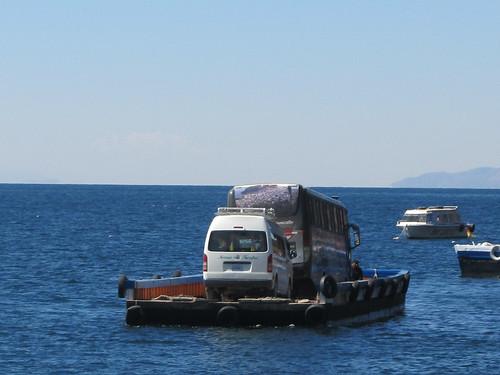 Trajet Copacabana-La Paz: bac pour traverser le Lac Titicaca