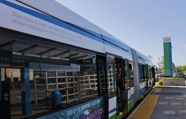 Swift bus at Everett Station