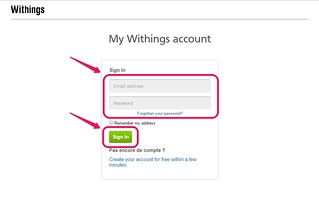 Login to Withings