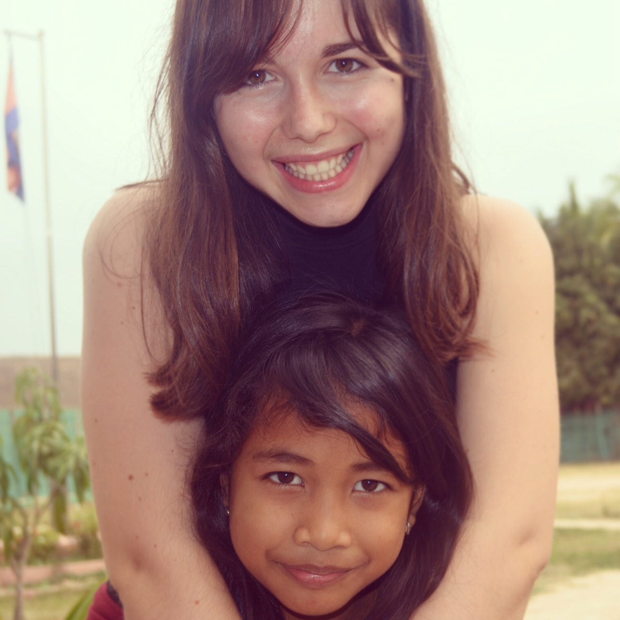 6 Madison Meyer with one of her Cambodian students in Siem Reap