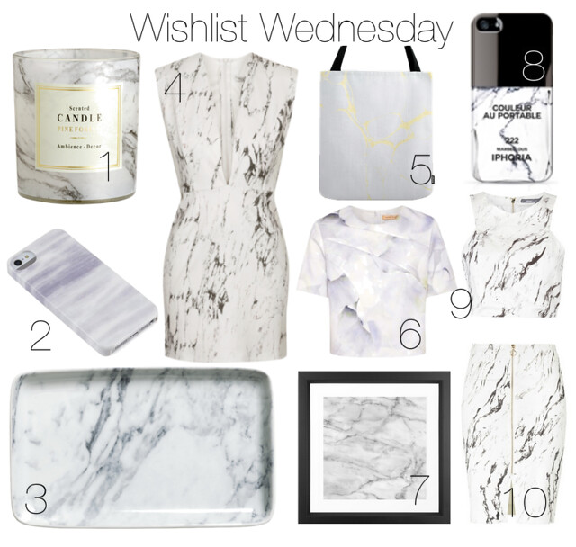 Wishlist Wednesday Marble I www.StylebyCharlotte.com