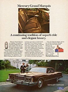 1976 Mercury Grand Marquis 4-Dr. Pillared Hardtop (Canadian Ad)