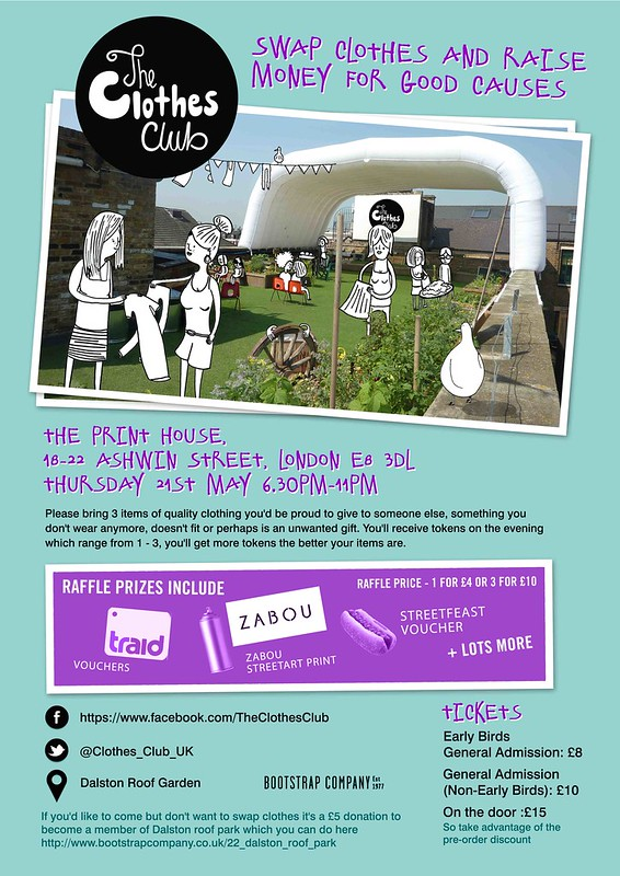 The Clothes Club fundraiser at Dalston Roofpark