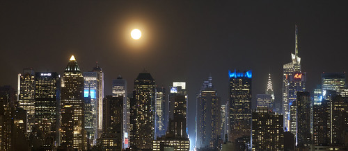 nyc moon skyline night square long exposure manhattan nj midtown times weehawken tsq