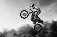 Motocross in B&W
